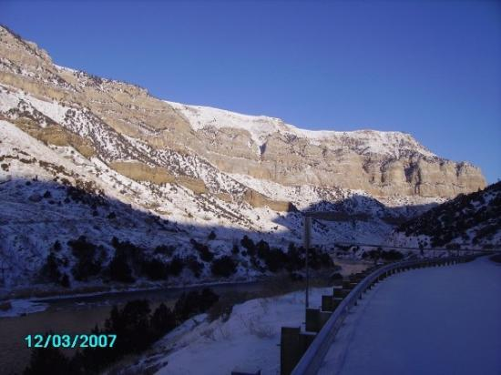 Thermopolis, WY: Christmas 2007 Wind River Canyon