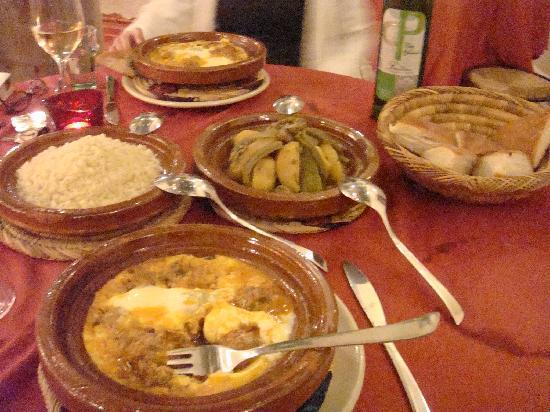 Riad Boussa: ディナー