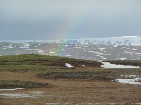 Hotel Leifur Eiriksson: A rainbow during the Golden Circle trip