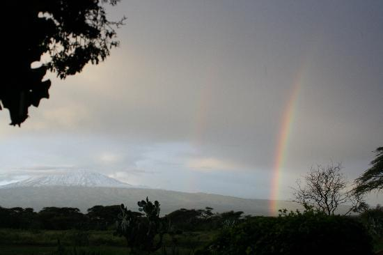 Amboseli Sopa Lodge: Vue au petit déjeuner