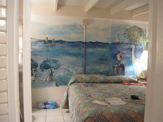 Bonefish Resort: View from the loo - loved the wall mural.