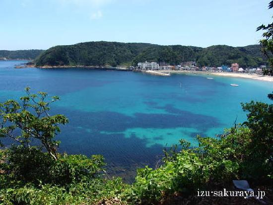 Pension Sakuraya: Sotoura Beach next to Shirahama in Shimoda city