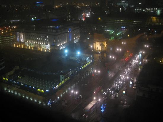 Hyatt Regency Birmingham: view from room 2104 at night