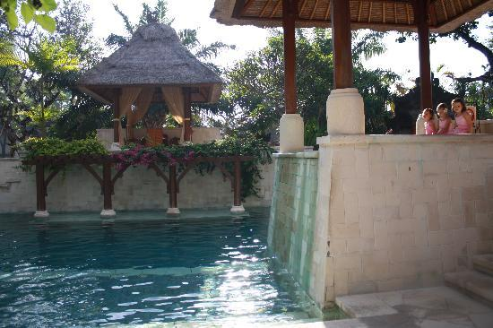 Griya Santrian: the second pool with spa
