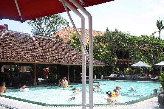 Griya Santrian: first pool- swim-up pool bar and kid's pool