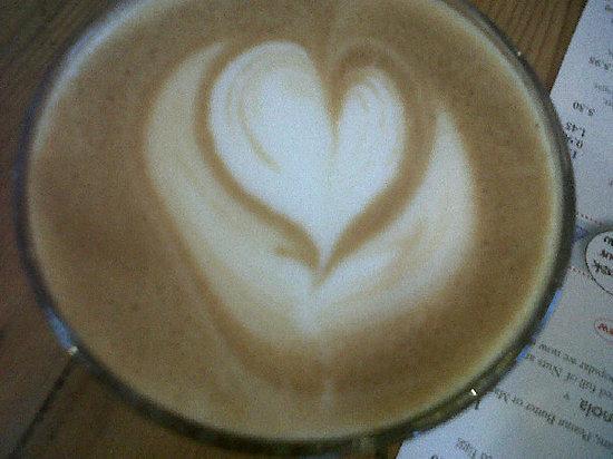 Cafe Boscanova: The top of my friends latte!