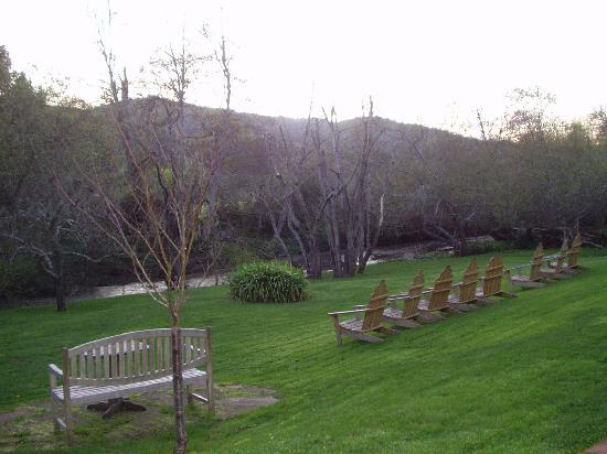 Olema, CA: Garden and Stream - backyard view