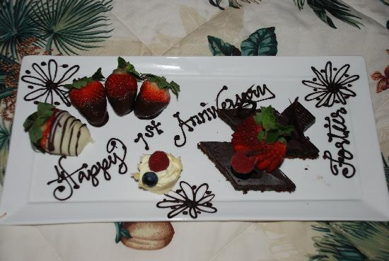 Beaches Turks & Caicos Resort Villages & Spa: And they remembered our 1st wedding anniversary
