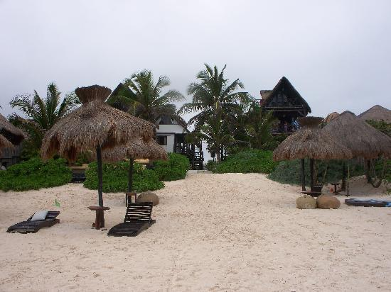 Zulum Beach Club + Cabanas: Zulum from the beach.