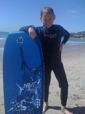 Laguna Riviera Beach Resort: boogie boarding near main beach- so clean...