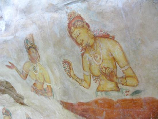 Sigiriya: 有名なフレスコ画。