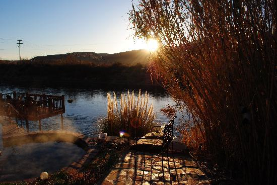 Sunrise at Riverbend Hot Springs