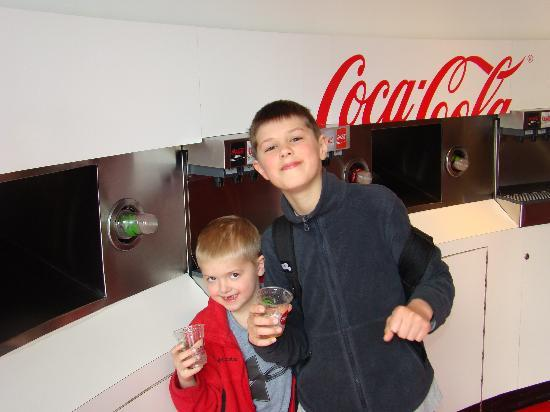 World of Coca-Cola: Mom let us drink as much pop as we wanted