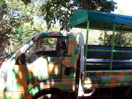 Apaneca Canopy Tour: The bus to take you UP the mountainside!