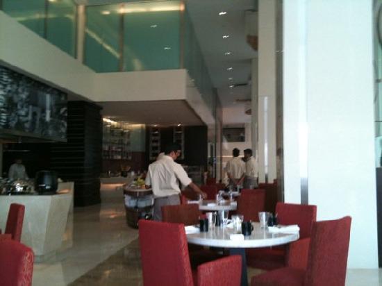 Holiday Inn Mumbai International Airport: photo from inside the restaurant