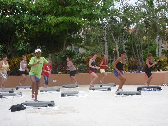 Viva Wyndham Azteca - An All-Inclusive Resort: step aerobic