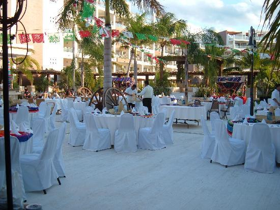 Excellence Playa Mujeres: Preparing for Mexican Theme night