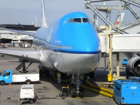 Picture of the Airbus Plane I took to Nairobi on KLM - Air France Airlines. Great customer servi