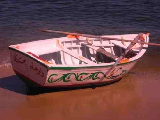 Alexandria, Egypt: Little Boat on the Mediterranean...