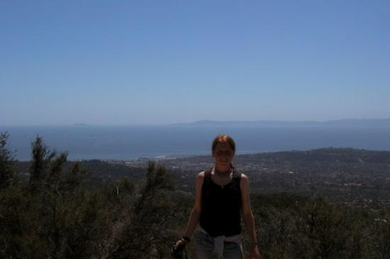 Santa Barbara, CA: Amy dragging me on a hike!