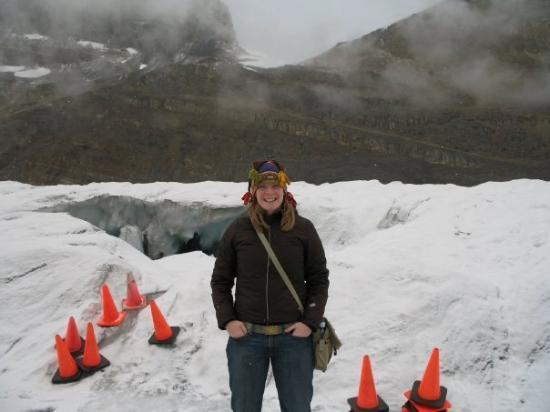 Jasper, Canada: Orange cones mean someone just fell through the ice...