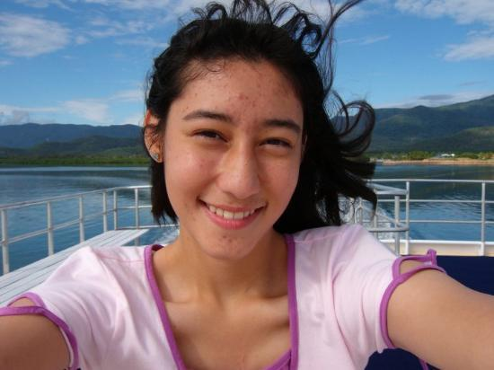 Hinchinbrook Island, Australia: Me :D on the top deck of the ferry.