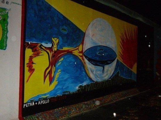 Berlinmuren Minnesmerke: The Eastside Gallery - a section of the Berlin Wall