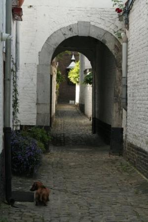 Liège, Belgia: A walkway to more homes and apartments. 