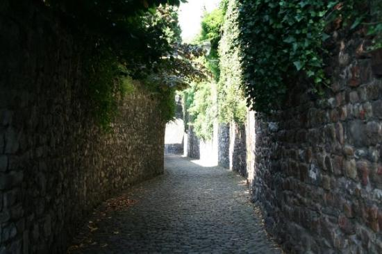 Liège, Belgia: A street in Huy, Belgium that dates back to medieval times.