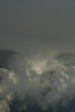 Liège, Belgia: The pilot was banking like he was driving a motorcycle to avoid this cloud bank. In a perverse w