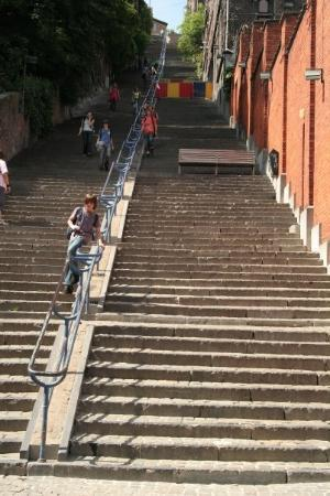 Liège, Belgia: 600 steps to the top. Legend has it a bunch of men climbed them to fight.