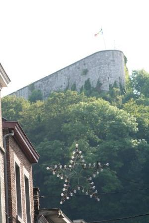 Liège, Belgia: THe Citadel in Huy, Belgium. During the Nazi occupation they took prisoners here to toture them