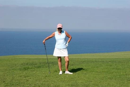 La Jolla, CA: Golf pose at Torrey Pines...beautiful course!!