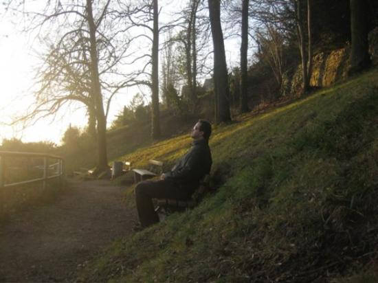 Heidelberg, Tyskland: It was an absolutely gorgeous day with the sun slowly setting along the Rhine.  At this time of