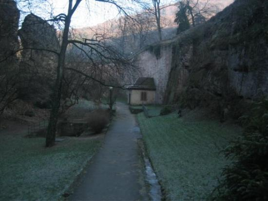 Heidelberg slott: The walkway along the Lower Elector's Wall.