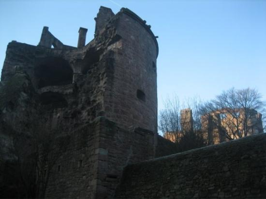 "Heidelberg slott: The Powder Tower, or ""Exploded Tower"" as it has come to be called."