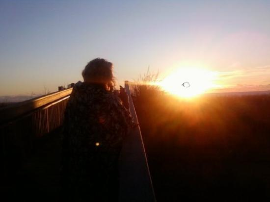 Ocean City, MD: watching the sun rise with kristin. one of the mot beautiful things ive ever seen