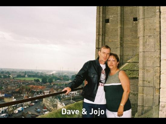 Boston, UK: DAVE AND I AT THE TOP OF THE STUMP
