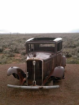 Petrified Forest National Park, AZ: We thought it was pretty cool. But some lady broke off the hood ornament right before we could t