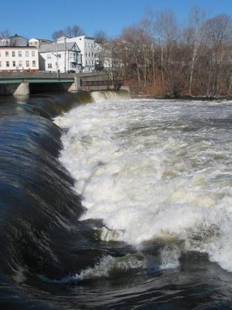 Paterson, NJ: Water levels are near the top of the background bridge. Way higher than normal