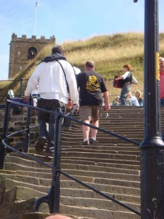 Up to the Whitby Abbey they go!