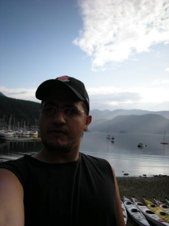 Deep Cove, Canada: probando la camara antes de salir al mar