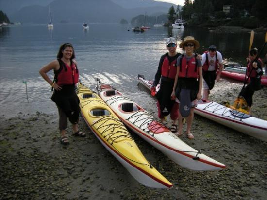 Deep Cove, Canada: con los amigos de trabajo de Mery