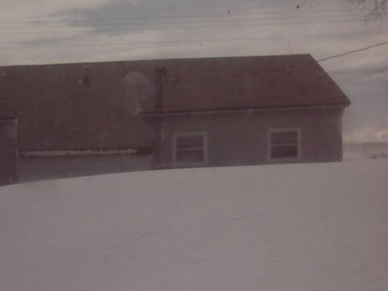 Rapid City, SD: This is the apartment house in front of us....there is a door, back there but we cant see it...a