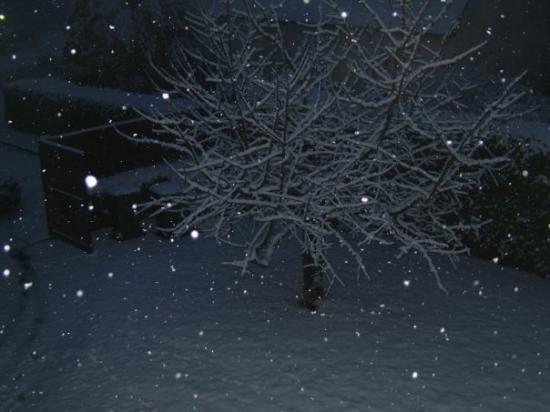 Binic, Frankrike: neige