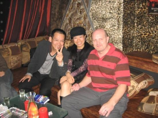 Jiangmen, Kina: Bother in-law, Wei and me.