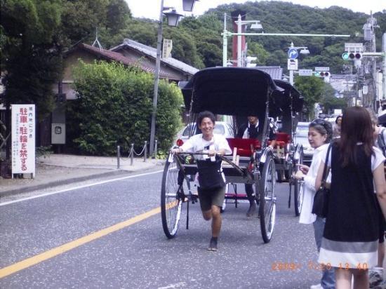 Kamakura, Japan: riksha man.