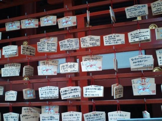 Kamakura, Japan: ohh prayers you writing them and hand them.