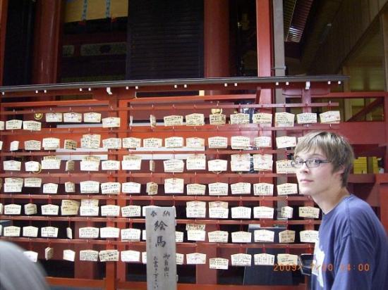 Kamakura, Japan: lots of prayers.