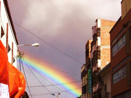Oruro, Bolivia: rainbow